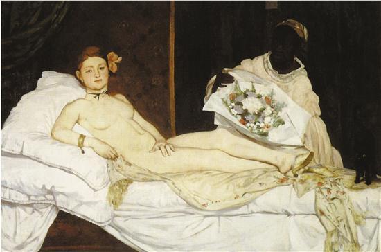 爱德华·马奈 奥林匹亚 布面油画 1863年 法国奥赛博物馆藏