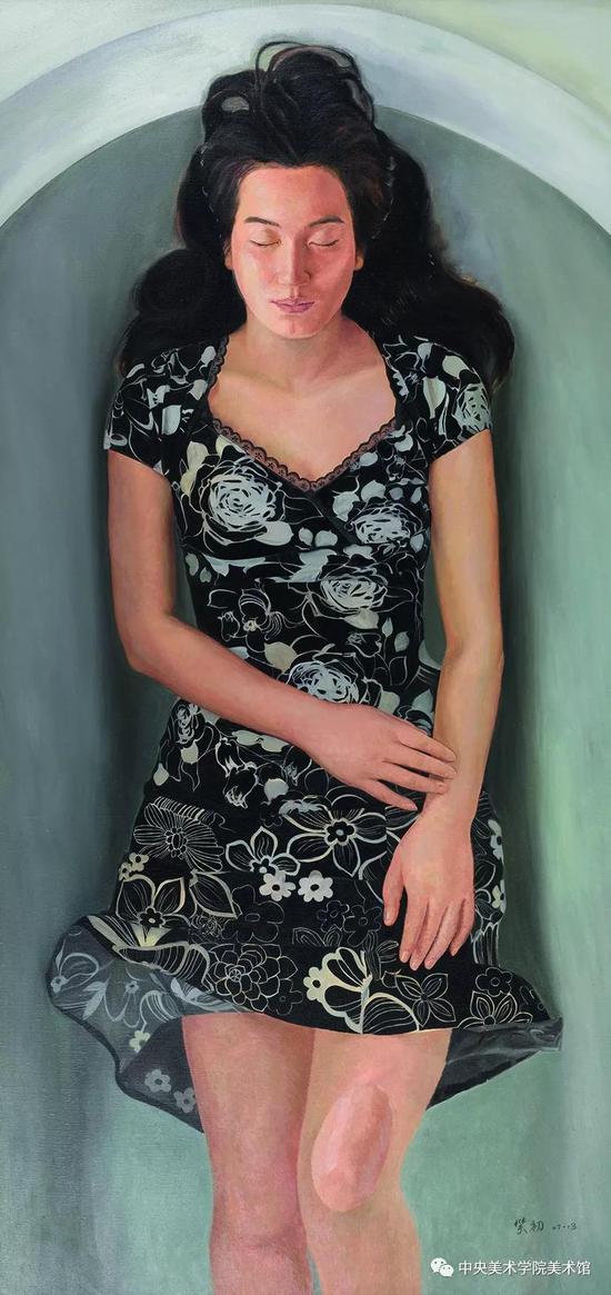 林笑初,《漂浮的想像》布面油画 180cmX86cm 2013年