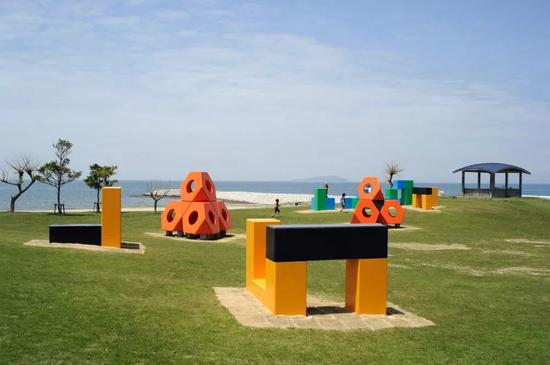 香川县观音寺市一之宮公园 海边游乐设施