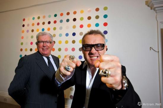 达明·赫斯特与弗兰克·邓菲,Martin Beddall/Alamy Stock Photo