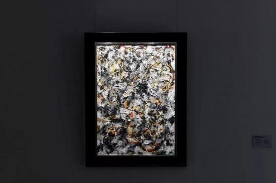 杰克逊·波洛克的《红色笔触的构成》目前正于香港展出