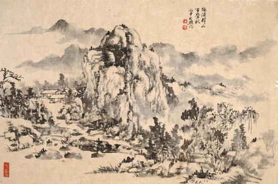 傅廷煦 山水 31cm×46cm 纸本水墨 2016年