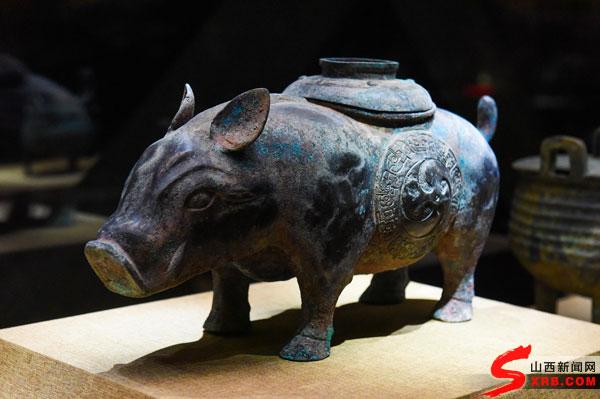 晋国博物馆展品——猪尊