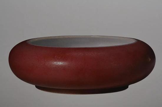 清康熙 豇豆红釉洗 清宫旧藏 现藏于故宫博物院