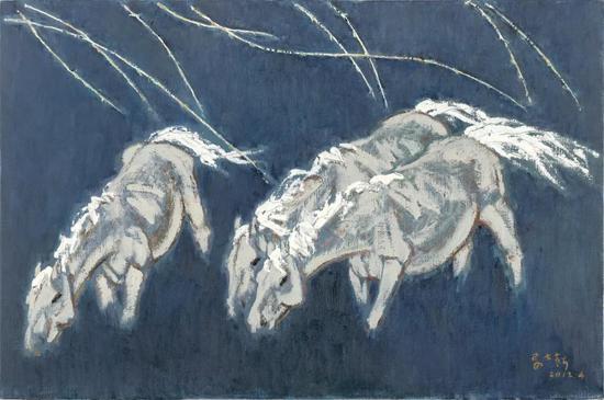 妥木斯《春天的风》布面油画 137×91cm 2014