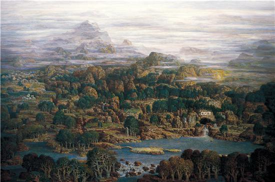 《珠江源》油画