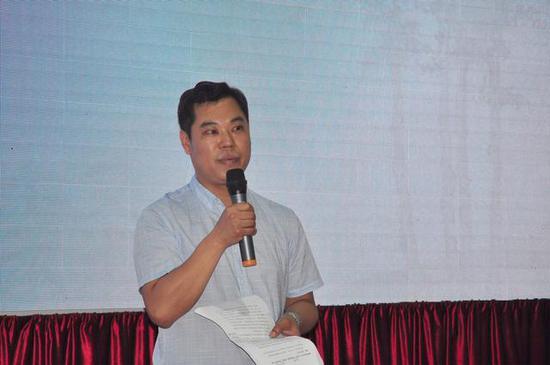 河南美术出版社书法编辑部主任谷国伟先生致辞