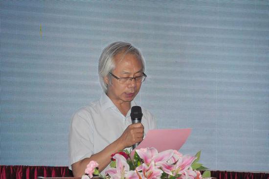 参展书家代表刘颜涛致辞
