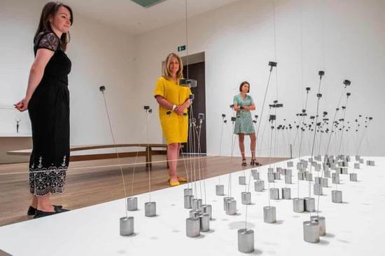 磁性光线和声音的雕塑家