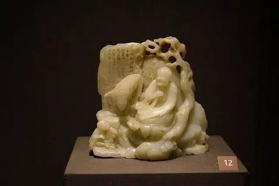 石间罗汉玉雕 明末或清初,17-18世纪