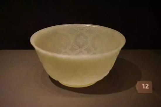 莫卧儿风格玉碗 清,18世纪