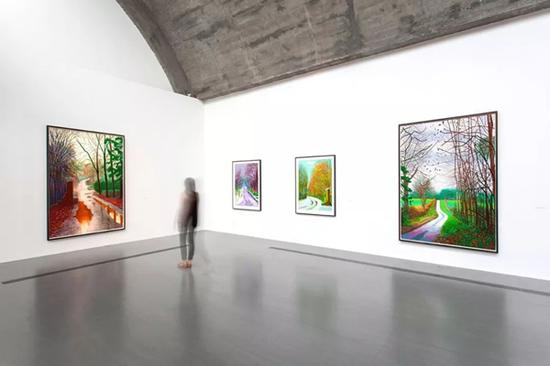 大卫·霍克尼2015年佩斯北京个展现场 ? David Hockney, photograph by Wang Xiang, Pace Gallery