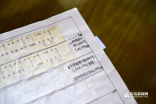 1991年11月份,张伟源拿到手的工资是210.3元。