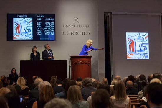 洛克菲勒珍藏美洲艺术拍卖41件拍品100%全数成交