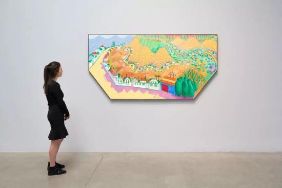 """佩斯纽约""""大卫·霍克尼:一些绘画(及摄影)甚至印刷中的新东西""""现场"""