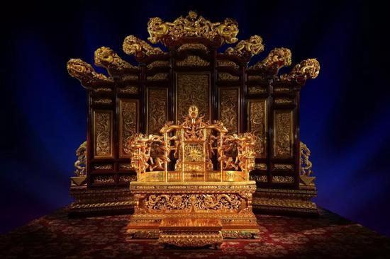 北京故宫皇极殿乾隆宝座