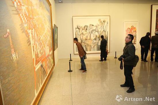 2013年上海美术进京展现场