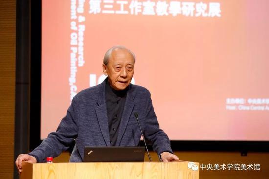 中央美术学院教授、前油画系第三工作室主任詹建俊