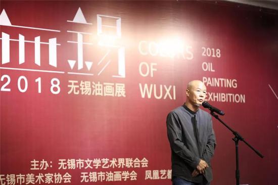 无锡油画学会主席、凤凰艺都美术馆名誉馆长唐满生先生致辞