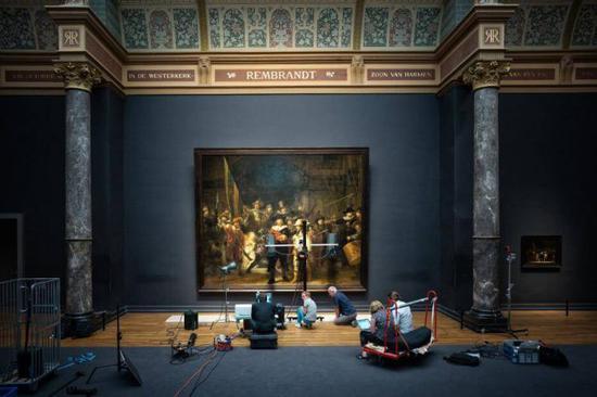 《夜巡》修复计画。图/荷兰国立博物馆提供
