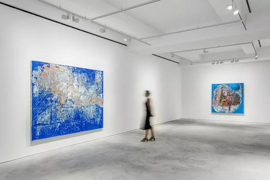 ▲Installation view, 'Mark Bradford', Hauser & Wirth Hong Kong
