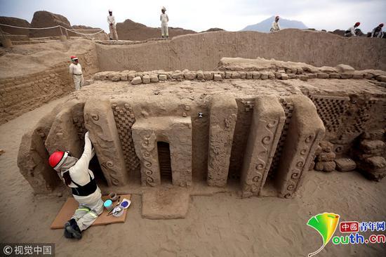 秘鲁昌昌古城是南美洲古印第安文明中奇穆帝国的都城。