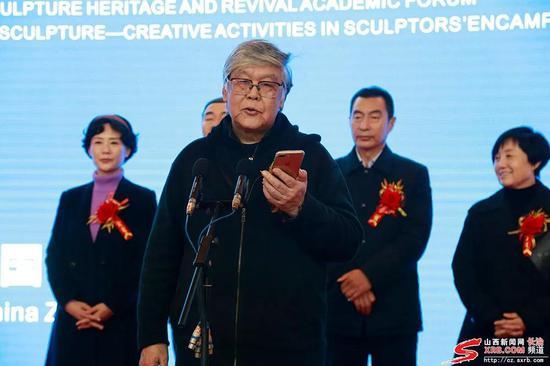 中国非遗艺术设计研究院院长、清华大学美术学院教授张錩致辞
