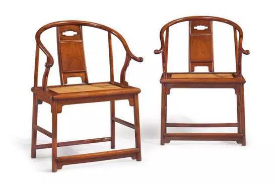 明17世纪黄花梨圈椅(一对)