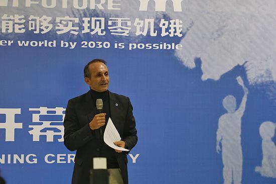 联合国粮农组织驻华代表马文森致辞(董家辉 摄)