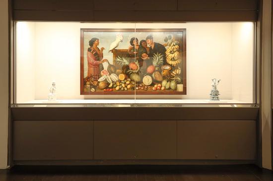 亚洲探险记特展 展场照片《巴达维亚的市集》(均匀制作提供、汪正翔摄)
