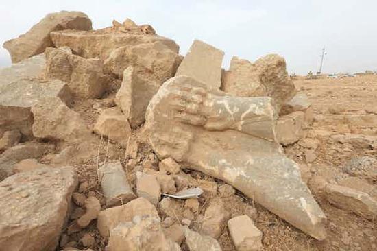 被破坏的伊拉克文物