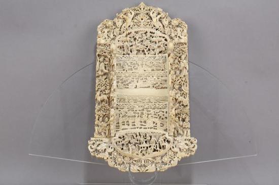 象牙雕人物信插 清 东莞市博物馆藏