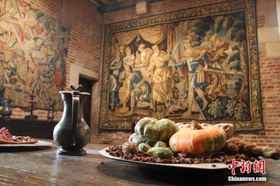 图为达·芬奇在克洛吕斯城堡的厨房,保留了当年的原貌。中新社记者 李洋 摄
