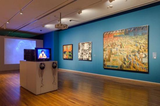 """""""觉醒:1960至1990年代亚洲社会中的艺术""""展览现场,新加坡国家美术馆"""