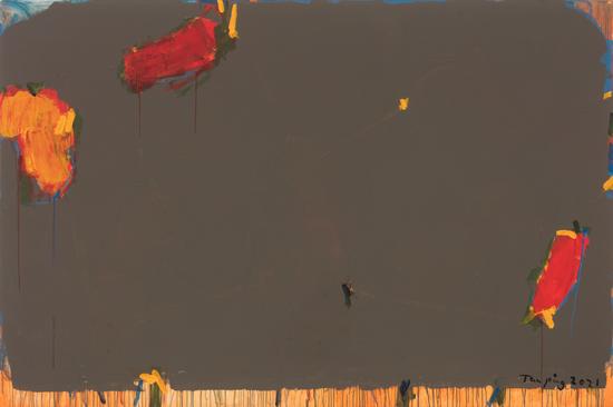 《无题》,布面丙烯,200 x 300 cm,2021