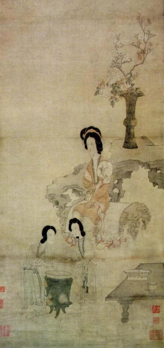 《调梅图》 明代 陈洪绶绘广东省博物馆藏