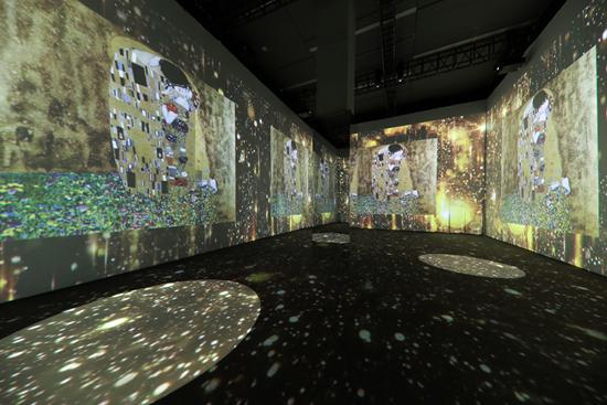 """展示克里姆特作品影像的主展览区""""艺之境"""""""