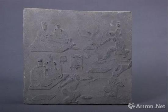 ▲东汉杂技舞乐画像砖1972年四川省大邑县安仁镇出土