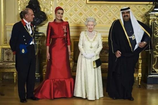 ▲卡塔尔王室与英国王室