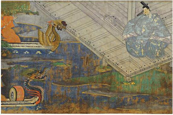 国宝《源氏物语绘词》镰仓时代 13世纪 被定为国宝图片来源:藤田美术馆官网