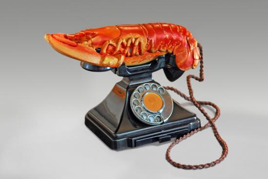红色版龙虾电话,1938年,Salvador Dalí