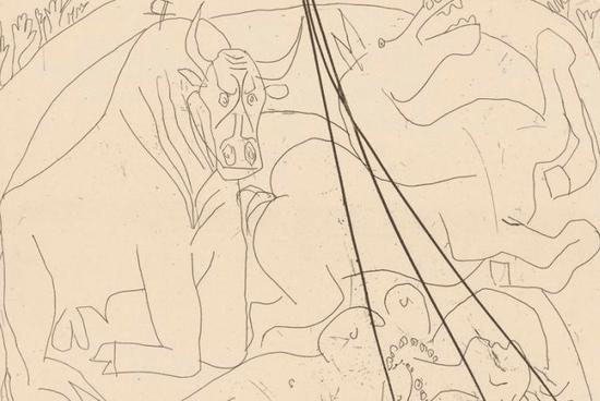 毕加索作品《女斗牛士》
