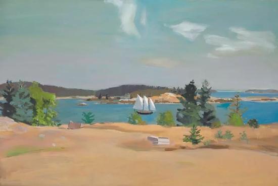 凡尔菲得·波特《帆船II》(The Schooner II)同样创下艺术家拍卖纪录,最终成交价为1,932,500美元