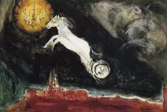 1942年为《阿莱科》第四幕所作,描绘了想象中的圣彼得堡