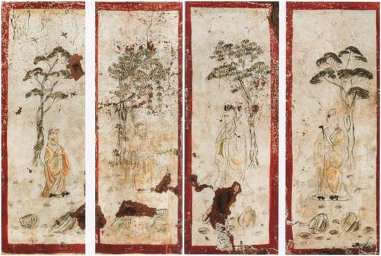 高士图 2013年陕西省西安市长安区郭庄村韩休墓出土 陕西历史博物馆藏