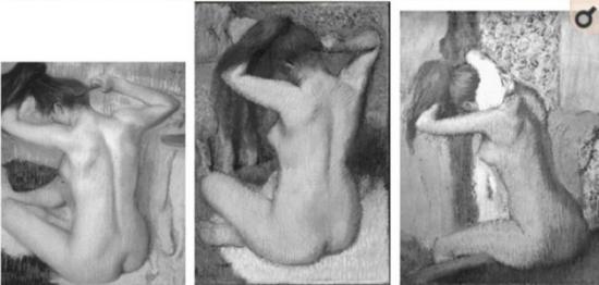卡萨特36岁时的画作。可以从帽子和裙子的皱褶看出卡萨特对细节描绘的精准。