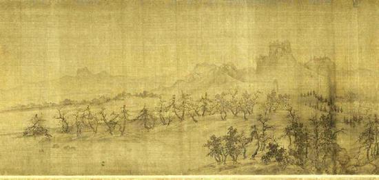 北宋王诜《烟江叠嶂图》局部 上海博物馆藏