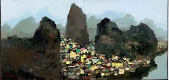 吴冠中《桂林》,3006万港币成交