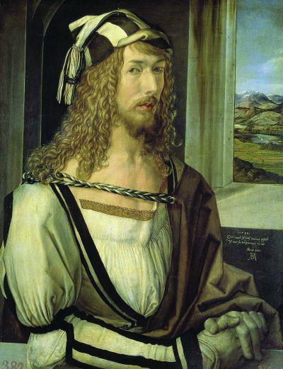 丢勒《1498年自画像》欣赏