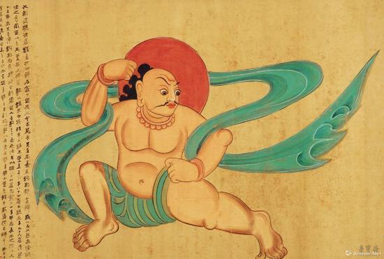 张大千 摹西魏敦煌壁画夜叉 108cm×74.8cm 绢本设色 四川博物院藏